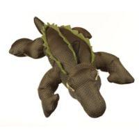 Dazzler™ Plush Alligator Squeaker Dog Toy in Dark Green