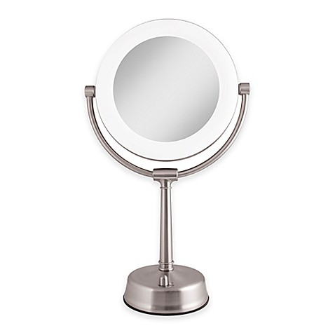 Zadro 1x 10x Fluorescent Sunlight Vanity Mirror In Satin