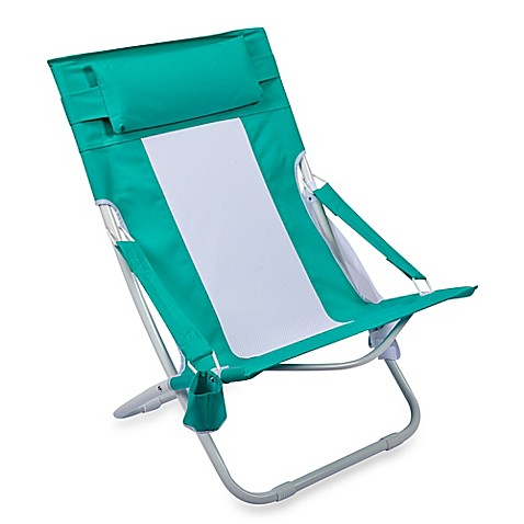 Folding Hammock Beach Chair in Blue - Folding Hammock Beach Chair - Bed Bath & Beyond