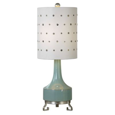 Uttermost Cayucos Table Lamp In Pistachio Green With Linen Shade