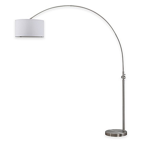 Safavieh Ascella Arc Floor Lamp In Nickel With Cotton