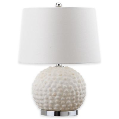Safavieh Forbes Table Lamp in Cream with Cotton Shade