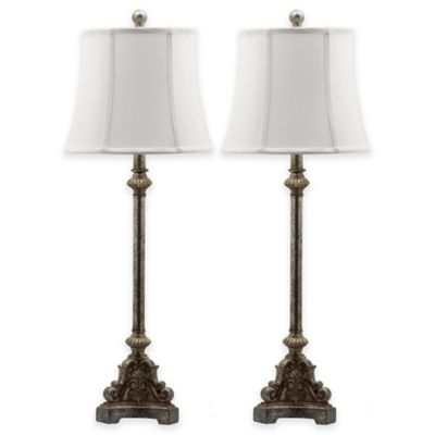 Buy metallic silver lamp shade from bed bath beyond safavieh rimini table lamps in antique silver with cotton shade set of 2 aloadofball