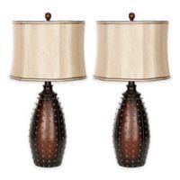 Safavieh Santa Fe Table Lamps in Brown (Set of 2)