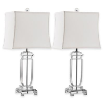 safavieh olympia table lamp with white shade
