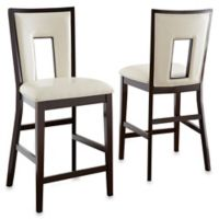 Steve Silver Co. Delano Counter Chairs in Espresso Cherry (Set of 2)