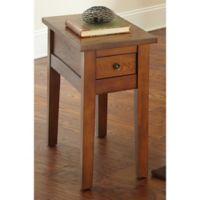 Steve Silver Co. Desoto Chairside End Table in Oak