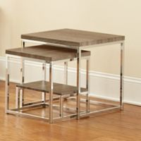 Steve Silver Co. Lucia 2-Piece Nesting Table Set in Grey