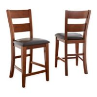 Steve Silver Co. Mango Counter Chairs in Brown (Set of 2)
