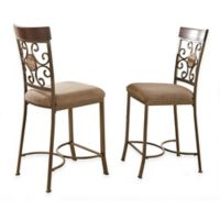 Steve Silver Co. Thompson Counter Chairs in Beige (Set of 2)
