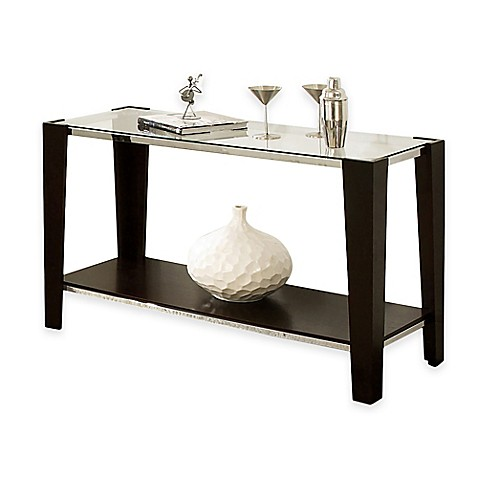 Steve silver newman sofa table in espresso bed bath beyond steve silver newman sofa table in espresso watchthetrailerfo