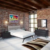 Modway Addison 5-Piece Queen Bedroom Set in Black/Grey