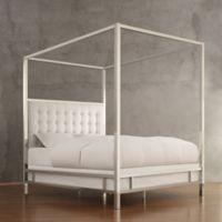 Verona Home Indio Chrome Framed Full Canopy Bed In White
