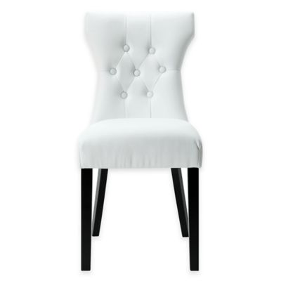 white tufted chair. Modway Silhouette Dining Side Chair In White Tufted