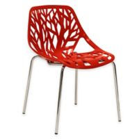 Modway Stencil Dining Side Chair in Red