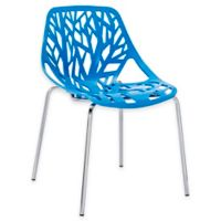 Modway Stencil Dining Side Chair in Blue