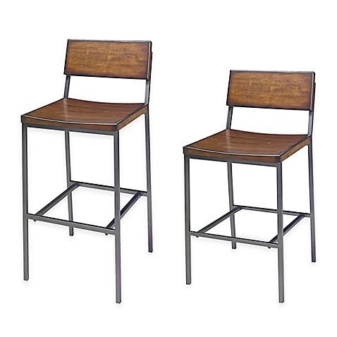 Progressive Furniture Sawyer Bar Stool And Counter Stool In Wood/Metal