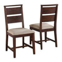 SRA Home Products Portland Solid Wood Dining Side Chair in Walnut (Set of 2)