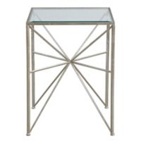 Uttermost Silvana Side Table in Silver