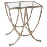 Uttermost Marta Side Table in Antiqued Silver
