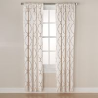 Linnea Embroidered 84-Inch Rod Pocket/Back Tab Room-Darkening Window Curtain Panel in Ivory