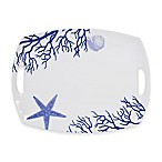 Everyday White®  by Fitz and Floyd® Coastal Starfish & Coral Rectangular Platter