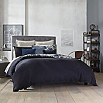 Kenneth Cole New York Fleur Reversible Full/Queen Duvet Cover in Navy