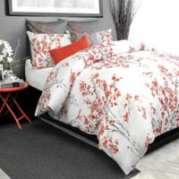 Alamode Home Brielle King Duvet Cover in Coral