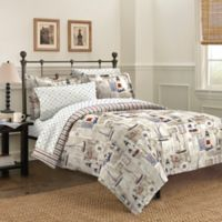 Free Spirit Cape Cod 5-Piece Reversible Twin Comforter Set in Blue