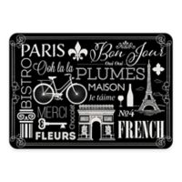 The Softer Side by Weather Guard™ 18-Inch x 27-Inch Parisian Kitchen Mat in Black/White