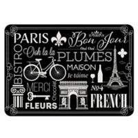 The Softer Side by Weather Guard™ 23-inch x 26-Inch Parisian Kitchen Mat in Black/White