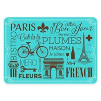 The Softer Side by Weather Guard™ 18-Inch x 27-Inch Parisian Kitchen Mat in Blue/Brown