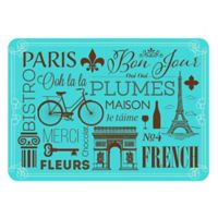 The Softer Side by Weather Guard™ 23-Inch x 26-Inch Parisian Kitchen Mat in Blue/Brown