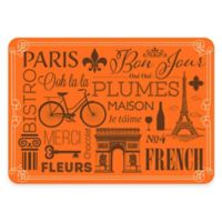 The Softer Side by Weather Guard™ 18-Inch x 27-Inch Parisian Kitchen Mat in Orange/Brown