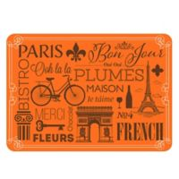 The Softer Side by Weather Guard™ 23-Inch x 36-Inch Parisian Kitchen Mat in Orange/Brown