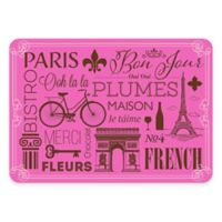 The Softer Side by Weather Guard™ 18-Inch x 27-inch Parisian Kitchen Mat in Pink/Brown