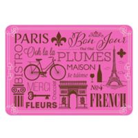 The Softer Side by Weather Guard™ 23-Inch x 36-Inch Parisian Kitchen Mat in Pink/Brown