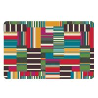 The Softer Side by Weather Guard™ 18-Inch x 27-Inch Patchwork Stripe Kitchen Mat