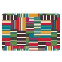 The Softer Side by Weather Guard™ 23-Inch x 36-Inch Patchwork Stripe Kitchen Mat