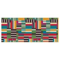 The Softer Side by Weather Guard™ 25-Inch x 60-Inch Patchwork Stripe Kitchen Mat