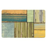 The Softer Side by Weather Guard™ 23-Inch x 36-Inch Patchwork Wood Kitchen Mat