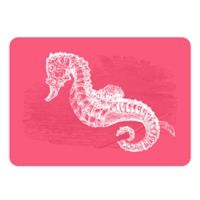 The Softer Side by Weather Guard™ 18-Inch x 27-Inch Seahorse Kitchen Mat in Pink/White