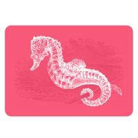 The Softer Side by Weather Guard™ 23-inch x 36-Inch Seahorse Kitchen Mat in Pink/White