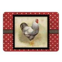 The Softer Side by Weather Guard™ 18-Inch x 27-Inch Polka Dot Hen Kitchen Mat