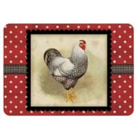 The Softer Side by Weather Guard™ 23-inch x 36-inch Polka Dot Hen Kitchen Mat