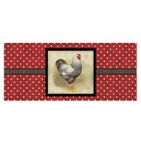 The Softer Side by Weather Guard™ 25-Inch x 60-Inch Polka Dot Hen Kitchen Mat