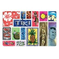 The Softer Side by Weather Guard™ 23-Inch x 36-Inch Polynesian Tiki Bar Kitchen Mat