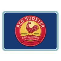 The Softer Side by Weather Guard™ 23-Inch x 36-Inch Red Rooster Label Kitchen Mat