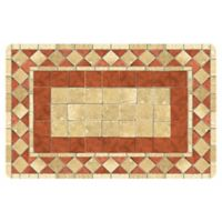 The Softer Side by Weather Guard™ 18-Inch x 27-Inch Red Tile Mosaic Kitchen Mat