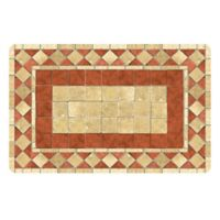 The Softer Side by Weather Guard™ 23-Inch x 36-inch Red Tile Mosaic Kitchen Mat